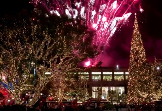 Tree Lighting Events Feature Live Special Effects, Fireworks, Xylobands LED Wristbands