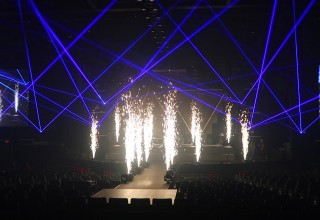 Sparkle Bursts with Laser Beams Add Dynamic Special Effects Impact for Events