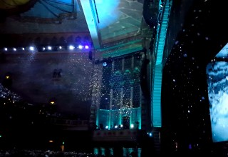 Snow Fills The Los Angeles Shrine Theater for E3 by Special Effects Team at TLC Creative