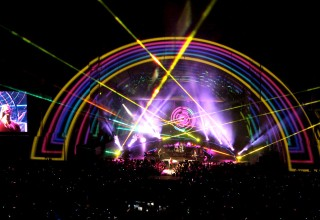 Hollywood Bowl Lights Up with Lasers for Coldplay